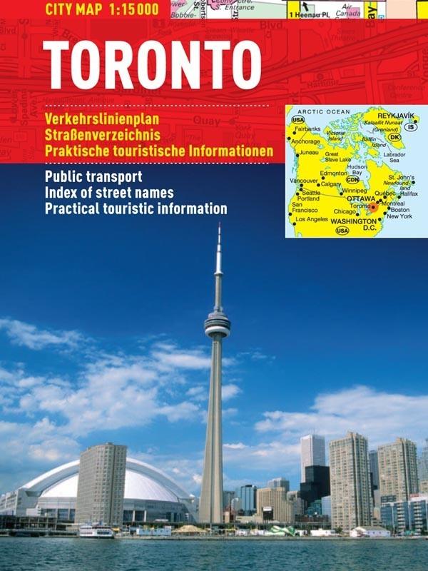 Toronto - harta turistica pliabila