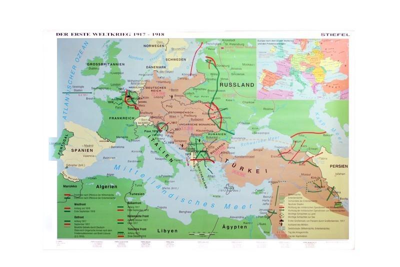 Primul Razboi Mondial - Harta de perete