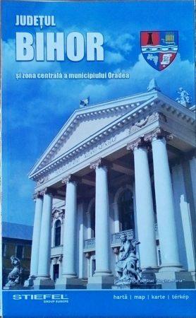Judetul Bihor - zona centrala Oradea - harta pliabila