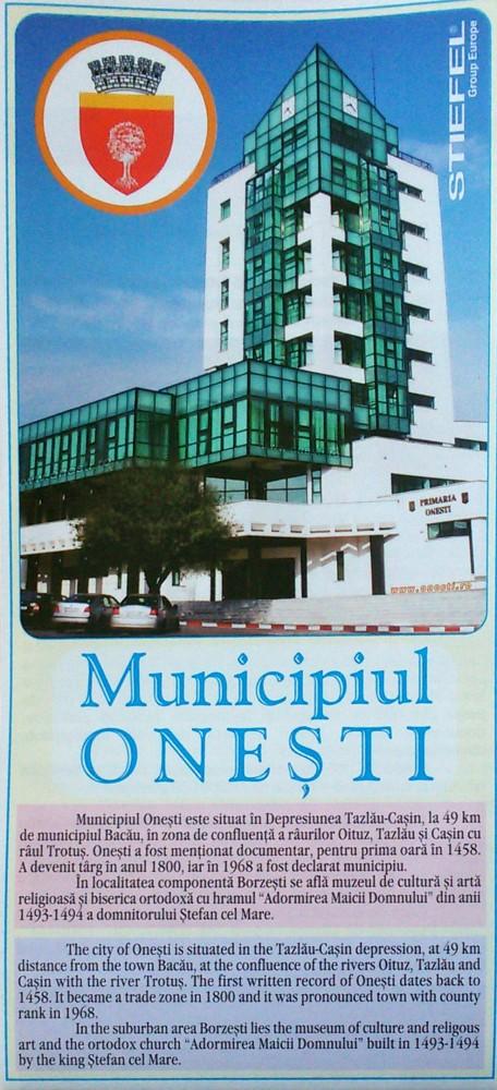 Municipiul Onesti Harta Pliabila Stiefel Romania