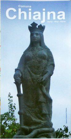 Comuna Chiajna - hartă pliabilă