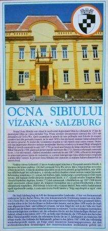 Orașul Ocna Sibiului - hartă pliabilă