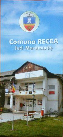 Comuna Recea - hartă pliabilă