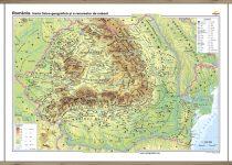 România. Harta fizico-geografică şi a resurselor naturale de subsol - bilingv