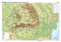 România. Harta fizico-geografică şi a resurselor naturale de subsol