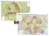 România. Harta fizico-geografică şi a resurselor naturale de subsol şi România. Harta administrativă şi a principalelor căi de comunicaţie – Duo Plus