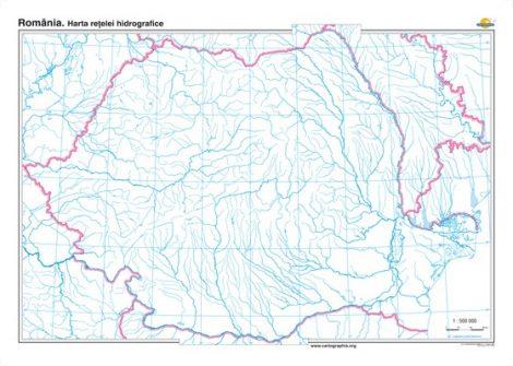 România. Harta reţelei hidrografice