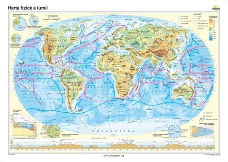 Harta fizică a lumii