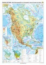 America de Nord. Harta fizico-geografică şi a principalelor resurse naturale de subsol