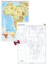 Africa. Harta fizico-geografică şi aprincipalelor resurse naturale de subsol – Duo