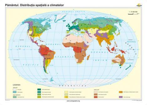 Pământul. Distribuţia spaţială a climatelor