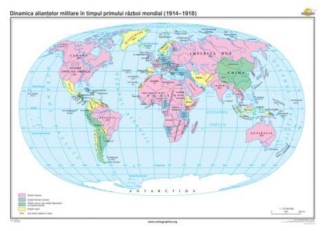 Dinamica alianţelor militare în timpul Primului Război Mondial (1914-1918)