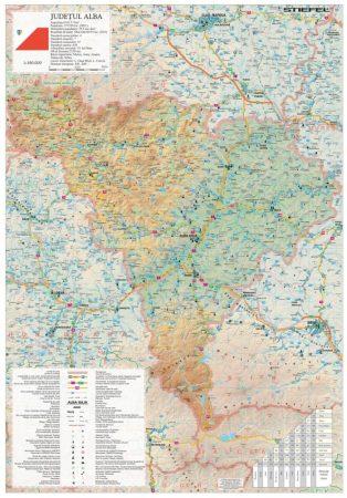 Harta județului Alba 70x100 cm șipci plastic