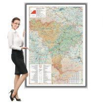 Harta Alba in rama de aluminiu