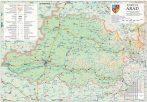 Harta Judetului Arad 100x70 cm sipci plastic