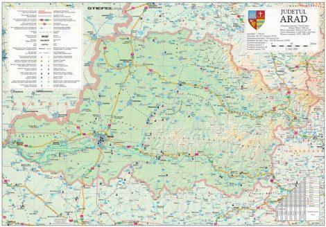 Harta județului Arad 100x70 cm, șipci plastic