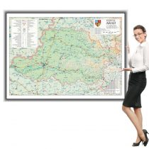Harta județului Arad în ramă de aluminiu