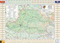 Harta județului Arad cu primării