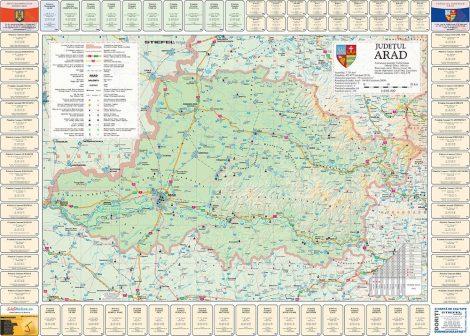 Harta Judetului cu primarii Arad