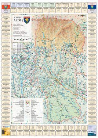 Harta județului Argeș cu primării