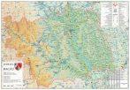 Harta Judetului Bacau 100x70 cm șipci plastic