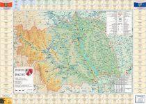 Harta Judetului Bacau cu primarii