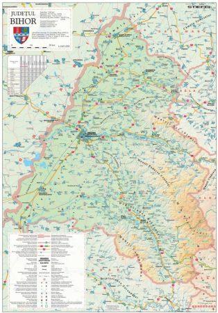 Harta Judetului Bihor 70x100 cm șipci plastic