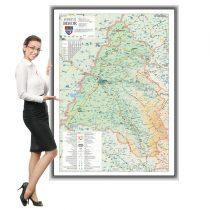 Harta Bihor în ramă de aluminiu