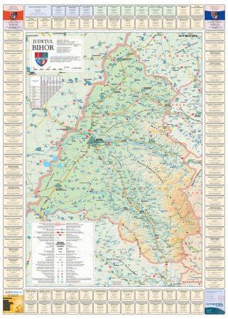Harta Judetului cu primarii Bihor