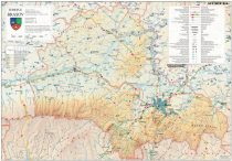 Harta Judetului Brasov 100x70 cm sipci plastic