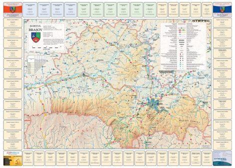 Harta județului Brașov cu primării