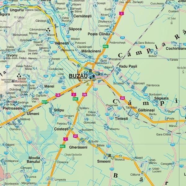 Harta Judetului Buzau 100x70 Cm Sipci Plastic Stiefel Romania