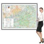 Harta județului Buzău în ramă de aluminiu
