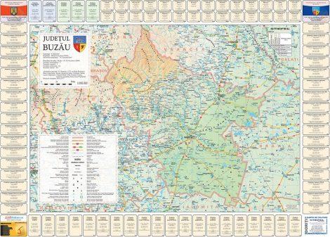 Harta județului Buzău cu primării