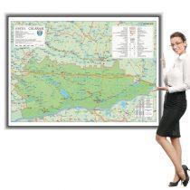 Harta Calarasi in rama de aluminiu