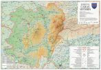 Harta Judetului Caras - Severin 100x70 cm sipci plastic