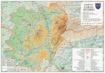Harta județului Caraș- Severin, șipci plastic