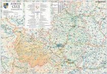 Harta județului Cluj, șipci plastic
