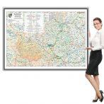Harta județului Cluj în ramă de aluminiu