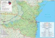 Harta județului Constanța, șipci plastic