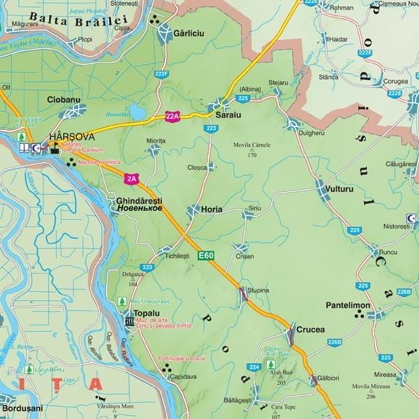 Harta Judetului Constanta 100x70 Cm Sipci Plastic Stiefel Romania