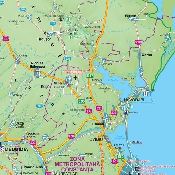Harta Judetului Cu Primarii Constanta Stiefel Romania