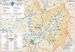 Harta județului Covasna, șipci plastic