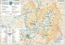 Harta Judetului Covasna 100x70 cm sipci plastic