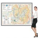 Harta județului Covasna în ramă de aluminiu