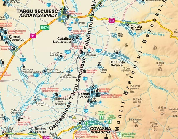 Harta Covasna In Rama De Aluminiu Stiefel Romania