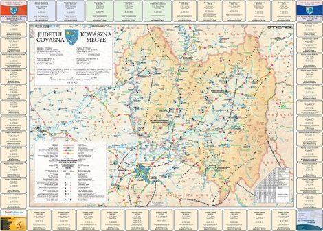 Harta județului Covasna cu primării