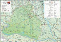 Harta Județului Dolj, șipci plastic