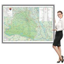 Harta Dolj in rama de aluminiu