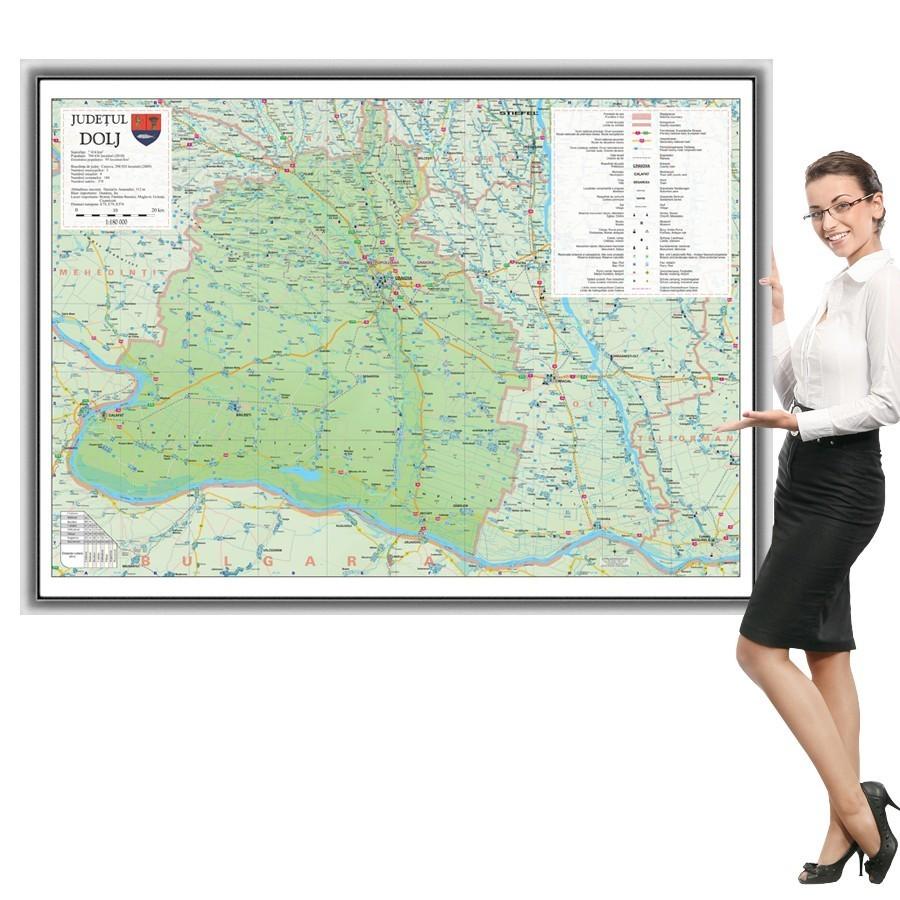 Harta Dolj In Rama De Aluminiu Stiefel Romania